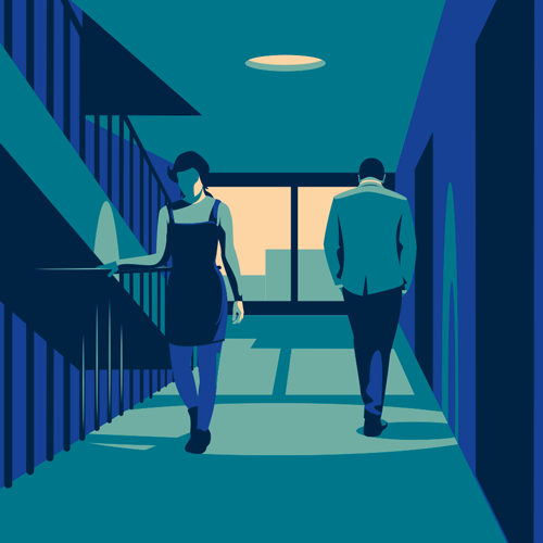 Theater flyer illustration
